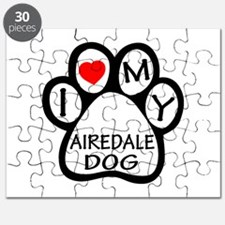 I Love My Airedale Dog Puzzle