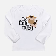 Vegan Cow Long Sleeve Infant T-Shirt