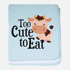 Vegan Cow baby blanket
