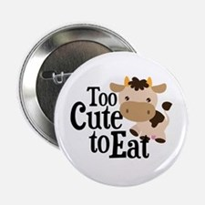 "Vegan Cow 2.25"" Button"