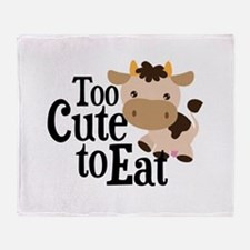 Vegan Cow Throw Blanket