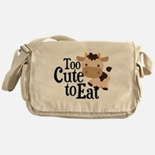 Vegan Cow Messenger Bag