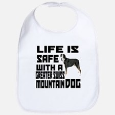 Life Is Safe With A Greater Swiss Mountain Dog Bib