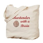 Bartender With Brain Tote Bag