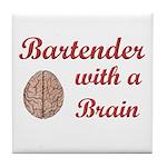 Bartender With Brain Tile Coaster
