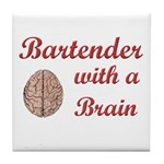 Bartender With Brain Tile Coaster