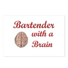 Bartender With Brain Postcards (Package of 8)