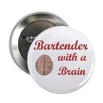 "Bartender With Brain 2.25"" Button (100 pack)"