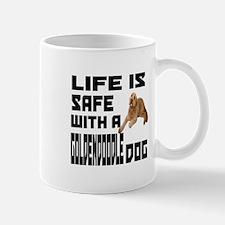 Life Is Safe With A Goldendoodle Mug
