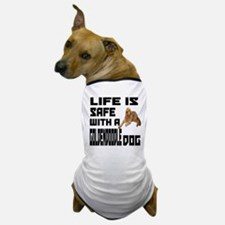 Life Is Safe With A Goldendoodle Dog T-Shirt