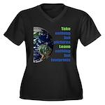 The Earth Women's Plus Size V-Neck Dark T-Shirt