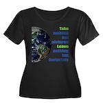 The Earth Women's Plus Size Scoop Neck Dark T-Shir