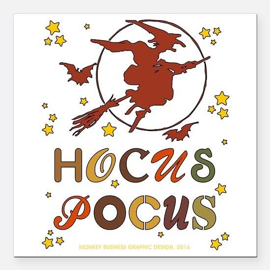 """HOCUS POCUS Square Car Magnet 3"""" x 3"""""""