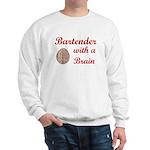 Bartender With Brain Sweatshirt