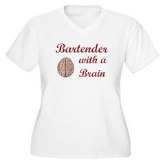 Bartender With Brain T-Shirt