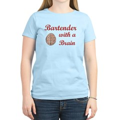 Bartender With Brain T-Shirt