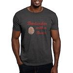 Bartender With Brain Dark T-Shirt