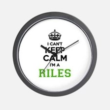 RILES I cant keeep calm Wall Clock