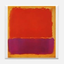 ROTHKO PURPLE ORANGE YELLOW Tile Coaster