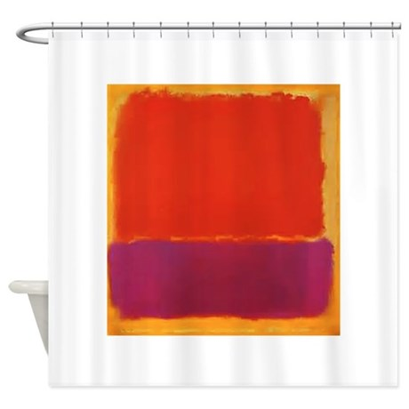ROTHKO PURPLE ORANGE YELLOW Shower Curtain By ThingsCollectable