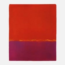 ROTHKO PURPLE ORANGE YELLOW Throw Blanket