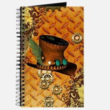 Steampunk, hat with clocks and gears Journal
