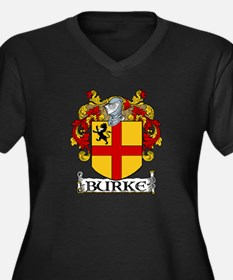 Burke Coat of Arms Women's Plus Size V-Neck Dark T