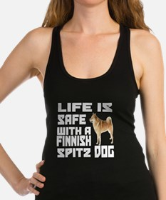 Life Is Safe With A Finnish Spi Racerback Tank Top