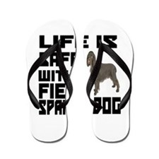 Life Is Safe With A Field Spaniel Flip Flops