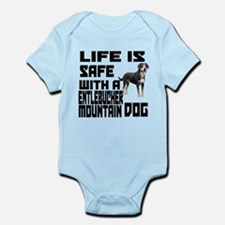 Life Is Safe With A Entlebucher Mo Infant Bodysuit