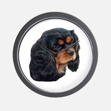 Black and Tan Cavalier King Charles Spa Wall Clock