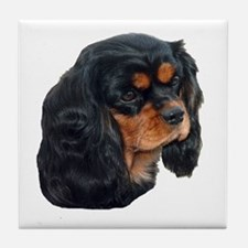 Black and Tan Cavalier King Charles S Tile Coaster