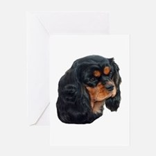 Black and Tan Cavalier King Charles Greeting Cards