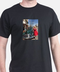 Kristin West & Classic Car T-Shirt