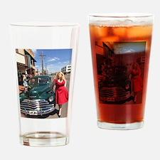 Kristin West & Classic Car Drinking Glass