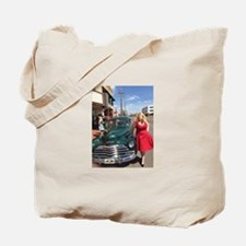 Kristin West & Classic Car Tote Bag