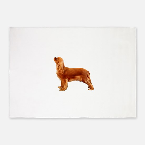 Ruby Cavalier King Charles Spaniel 5'x7'Area Rug