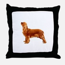 Ruby Cavalier King Charles Spaniel Throw Pillow