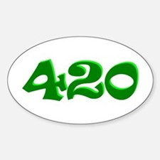 420 Oval Bumper Stickers