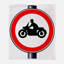 Funny Traffic sign Throw Blanket