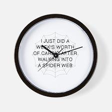 Cool Webs Wall Clock