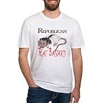 Republican Rat Bastard Fitted T-Shirt