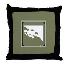 Climbing Girl Icon Throw Pillow