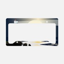 Funny Lighthouse License Plate Holder