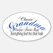 ~Classic Grandma~ Oval Decal