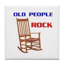 OLD FOLKS ROCK Tile Coaster