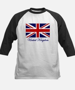 UK Flag Kids Baseball Jersey