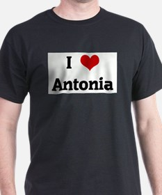 I Love Antonia Ash Grey T-Shirt
