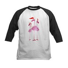 Three Pink Christmas Flamingo Tee