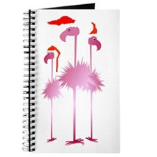 Three Pink Christmas Flamingo Journal